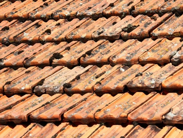 Pressure cleaning roof tiles