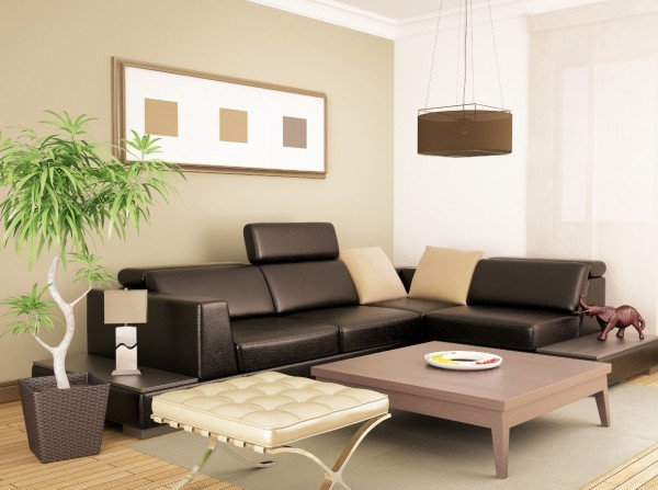 Sydney house painting - Modern living room painted neutral colours